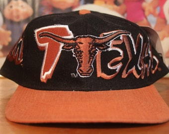 Deadstock Vintage TEXAS LONGHORNS Hat Snapback texas university sports college athletic officially licensed