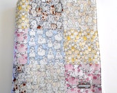 Minky Baby Patchwork Blanket Quilt Farm Animals Pigs Sheep Cats Chickens Bunnies Gender Neutral 2 Sizes--Made to Order
