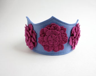 Pink and Purple Floral Crown