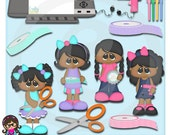 Crafting Cuties AA African American Clip art  Clipart Graphics  Commercial Use