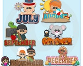 2015 It's On The Calendar Set 2  Clip art  Clipart Graphics  Commercial Use