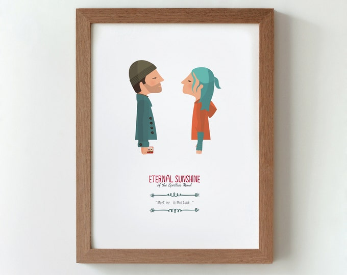 Illustration. Eternal Sunshine. Print. Wall art. Art decor. Hanging wall. Printed art. Decor home. Gift idea. Bedroom. Sweet home. Gondry.