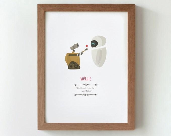 """Ilustración """"Wall-E"""". Basada en la película de Andrew Stanton."""