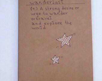 Journal /Wanderlust/ Notebook/ Travel Journal / Big Notebook