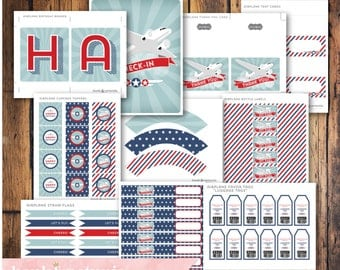 Printable DIY Airplane Party Package