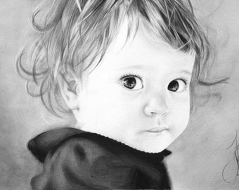 Custom pencil drawing made from your photo! Handrawn on high quality paper using pencils.