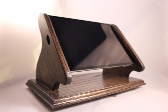 iPad MINI Landscape View Swivel Base Stand - Ebony  Finish