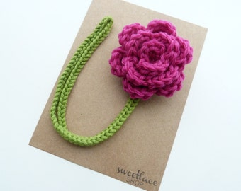 Magenta Pacifier Clip--Crochet Flower pacifier clip--MAM adapter--Baby Girl accessories--Sweetlace Shop