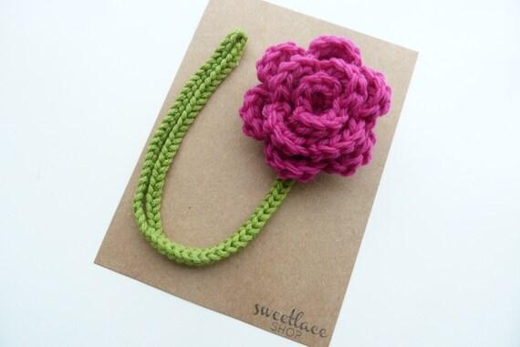 Magenta Pacifier Clip--Crochet Flower pacifier clip--MAM adapter--Baby Girl accessories--Sweetlace Shop