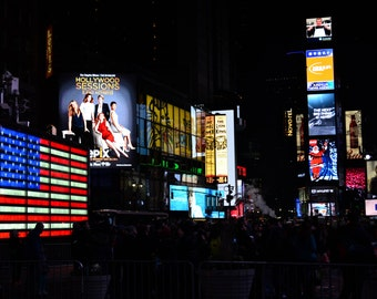 NYC Times Square Photograph -  Color - New York City - Landscape - Home Decor - Wall Art