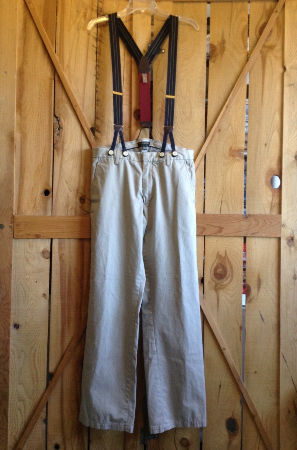 Mens Pioneer Costume 32x34 Pants And Button On