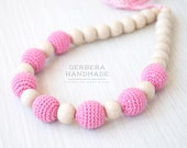 Nursing necklace/ Teething necklace/ Pink Nursing necklace/Babywearing necklace/ Baby Nursing necklace/ Chew necklace
