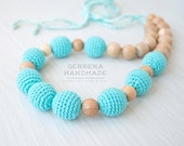 Turquoise Nursing necklace/ Teething necklace/ Nursing necklace/Babywearing necklace/ Baby Nursing necklace/ Chew necklace