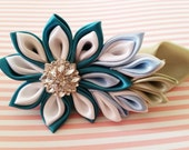 Kanzashi Flower with French Barrette