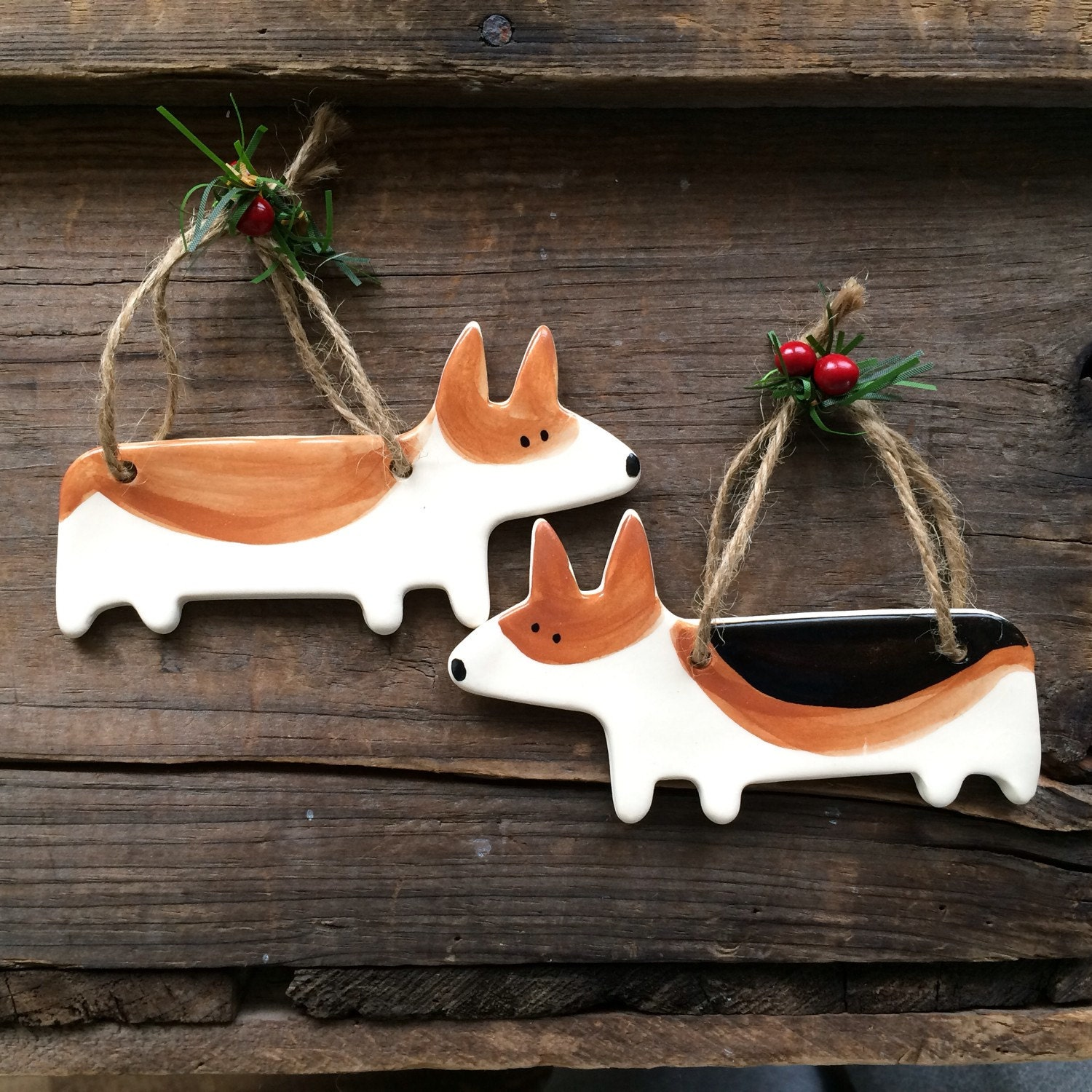 Personalized pet ornament - Dog Ornament Corgi Dog Ornament Welsh Corgi Ornament Corgi Christmas Ornament Handmade