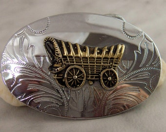 Southwest Belt Buckle   Covered Wagon