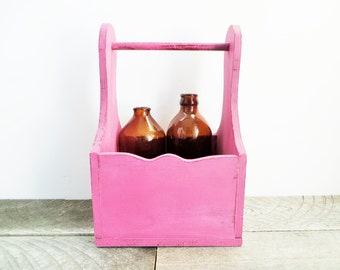 Little Pink Caddy - Upcycled - Funky Chic Organization