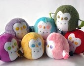 Made-To-Order Chubby Owl Squishy Plush Doll