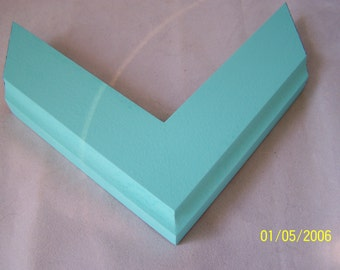 11x14 Ready to Ship Picture Frame ~ Hand painted ~ Aquamarine ~ 1 1/2 inch Flat Profile w Cove Edge ~ Solid Color