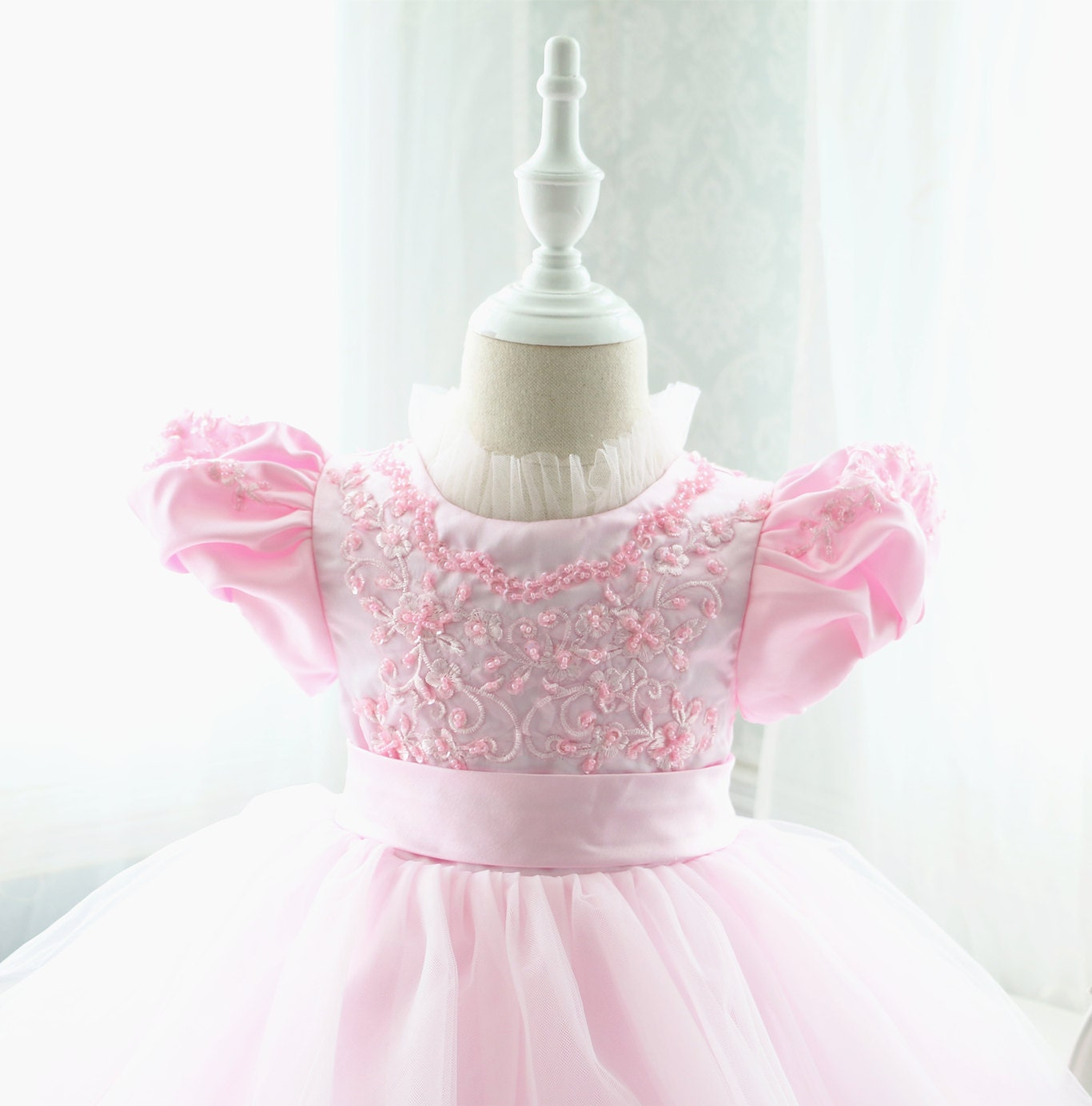 Blue christmas dress 4t - Pink Lace Top Baby Birthday Dress Thanksgiving Dress For Toddler Baby Christmas Dress