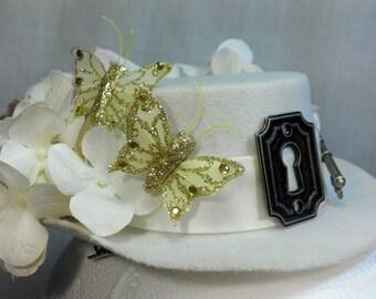 Secret Garden Victorian/Steampunk Mini Top Hat Fascinator