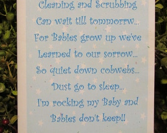 Baby Boy Congratulations Greeting Card - FREE SHIPPING