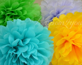 85 Tissue Paper POM POMS Set // Wedding Decorations // Party Decor // Paper Balls // Paper Puffs // Paper Pom Poms