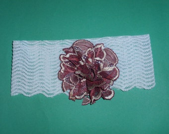 Baby Headband. Lace Baby Girl Headband.Baby Headbands.Shabby Chic Christening Headband.Newborn Headband.Bow Headband