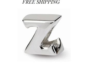 Sterling Silver Letter Z Bead
