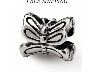Sterling Silver Butterfly Bead