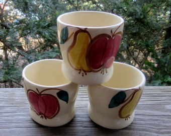 purinton apple and pear fruit mugs