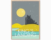 GAME OF THRONES | King's Landing Poster : Daenerys Drogo Modern Illustration Retro Art Wall Decor Print