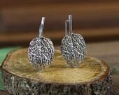 Berggarten Sage Earrings in Sterling Silver, Silver Sage earrings