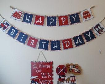 Train Birthday- Train Birthday Package- Boy's Train Birthday Party Package