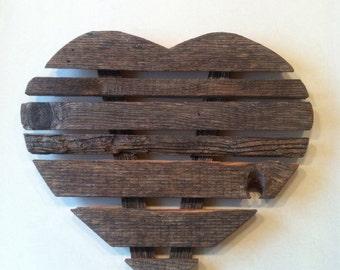 """Rustic wooden heart 16"""" x 18"""""""