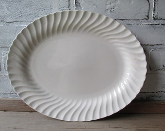 Large White Ironstone Platter Johnson Brothers Type