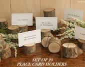 20 Rustic Place Card Holder, Escort Card Holder, Place Holder, Rustic Wedding Decor, Wood Place Card Holder, Rustic Wedding Supplies