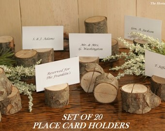 20 rustic place card holder escort card holder place holder rustic wedding decor