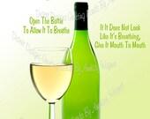 Enjoying Wine.. Humorous Print... Great Gift Idea...Print