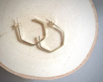 Geometric Gold Hoop Earrings