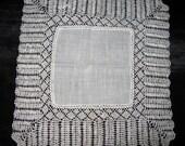 Antique Hankie Lace Hanky Ivory Lacy Edge Vintage Handkerchief