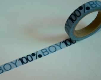 1 Roll Japanese Washi Masking Paper Tape: 100% Boy