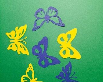 150 butterflies - 1.25inch - Confetti, Scrapbooks, Party