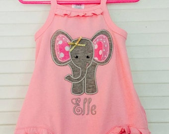 Bubble Gum Pink Ruffle Baby Bubble- Personalized Baby Girls Ruffle Baby Romper- baby girls set - monogrammed with bow- So sweet.