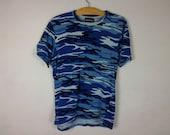 blue army camo shirt size S