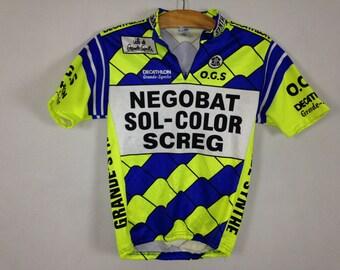 90s neon bike shirt size S