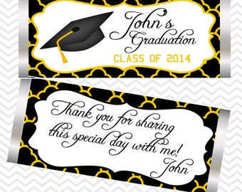 Graduation Cap Candy Bar Wrappers
