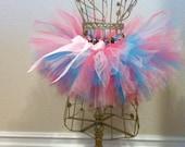 Baby Hot Pink, Blue, And Light Pink Tutu Skirt