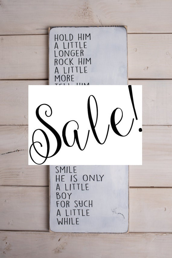 Quotes About Little Boys Little Boy Poem on Wood Sign