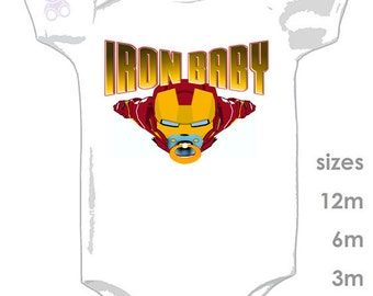 IRON BABY Cute and Funny Onesie for your Little Ironman - Iron Man - Ironbaby